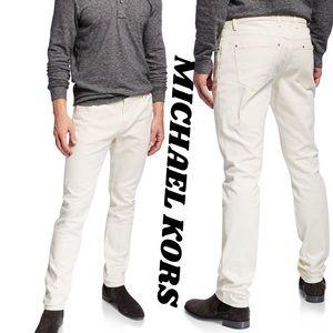 MICHAEL KORS Parker Slim Fit Casual Jeans in Ecru